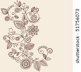 hand drawn abstract henna... | Shutterstock .eps vector #51756073