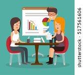 office teamwork board chart...   Shutterstock .eps vector #517561606