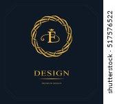 monogram design elements ... | Shutterstock .eps vector #517576522