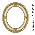 oval picture frame isolated on... | Shutterstock . vector #517580995