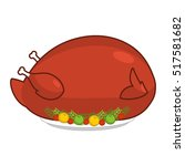 large big turkey for... | Shutterstock .eps vector #517581682