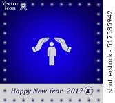 human life insurance sign icon. ... | Shutterstock .eps vector #517585942