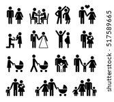 people family icon set. love... | Shutterstock . vector #517589665