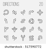 set of direction icons in... | Shutterstock .eps vector #517590772