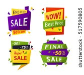 sale tag or vector sale labels... | Shutterstock .eps vector #517590805