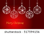 christmas background  holiday... | Shutterstock .eps vector #517594156