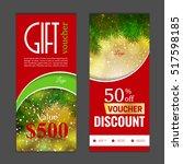 gift voucher template. can be... | Shutterstock .eps vector #517598185