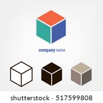 logo corporate cube series in... | Shutterstock .eps vector #517599808