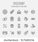 set of discount icons in modern ... | Shutterstock .eps vector #517600156