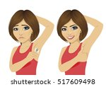 young woman in two different...   Shutterstock .eps vector #517609498