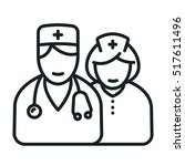 doctor and nurse minimalistic... | Shutterstock .eps vector #517611496