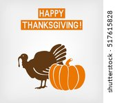 thanksgiving greeting card.... | Shutterstock .eps vector #517615828