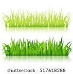 green grass borders vector | Shutterstock .eps vector #517618288