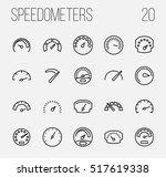 set of speedometer icons in... | Shutterstock .eps vector #517619338