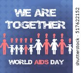vector concept on world aids... | Shutterstock .eps vector #517622152