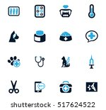 veterinary clinic icon set for...