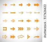 arrow icons set   vector...   Shutterstock .eps vector #517626622