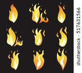 set of animation fire and... | Shutterstock .eps vector #517631566