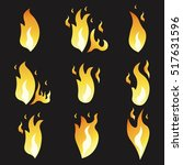 set of animation fire and... | Shutterstock .eps vector #517631596
