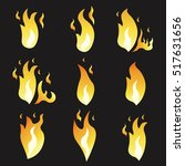 set of animation fire and... | Shutterstock .eps vector #517631656