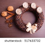 Christmas Wreath From Coffee...