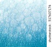 macro foam texture blue... | Shutterstock . vector #517637176