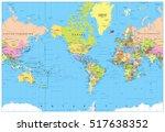 america centered political... | Shutterstock .eps vector #517638352