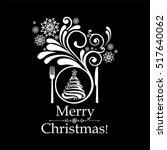 christmas menu design.... | Shutterstock . vector #517640062