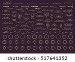 vintage decor elements and... | Shutterstock .eps vector #517641352