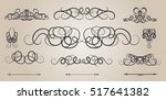 vintage decor elements and... | Shutterstock .eps vector #517641382