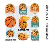 basketball and logo set   Shutterstock .eps vector #517641385