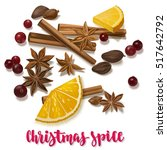 christmas winter spice.... | Shutterstock .eps vector #517642792