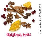 christmas winter spice.... | Shutterstock .eps vector #517642792