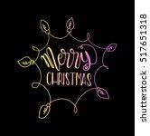 merry christmas. modern... | Shutterstock .eps vector #517651318