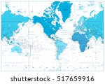 world map continents in colors... | Shutterstock .eps vector #517659916