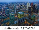 Aerial Of Toronto City Center...