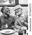senior men relax lifestyle... | Shutterstock . vector #517664272