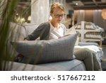 pretty  young woman choosing... | Shutterstock . vector #517667212