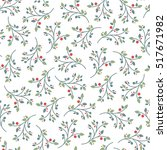 christmas seamless pattern... | Shutterstock .eps vector #517671982