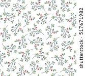 christmas seamless pattern... | Shutterstock .eps vector #517671982