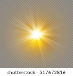 glow light effect. star burst... | Shutterstock .eps vector #517672816