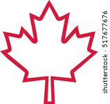 Canada Maple Leaf Outline