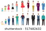 different age generations of... | Shutterstock .eps vector #517682632