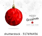 merry christmas and happy new... | Shutterstock .eps vector #517696456