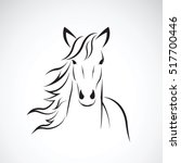 vector image of a horse head... | Shutterstock .eps vector #517700446