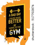 motivation concept about gym... | Shutterstock .eps vector #517702876