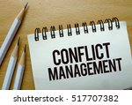 conflict management text... | Shutterstock . vector #517707382