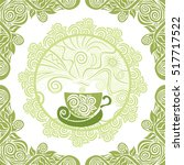 green tea. vector illustration. | Shutterstock .eps vector #517717522