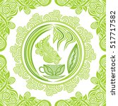 green tea. vector illustration. | Shutterstock .eps vector #517717582