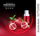 collagen pomegranate and serum... | Shutterstock .eps vector #517722502